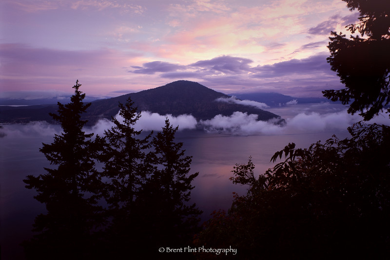 S.4709 - Morning fog on Lake Pend Oreille, Kaniksu National Forest, ID.