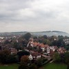 View of East Sussex from Lewes Castle over the Paddock to Plumpton