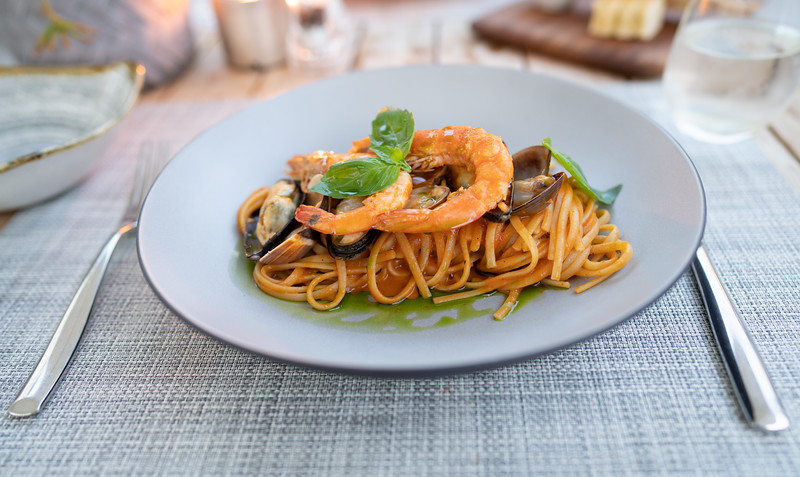 Seafood Linguini at the Ikos Andalusia, Spain