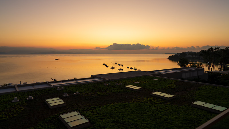 View from room at sunrise, Ikos Dassia, Corfu