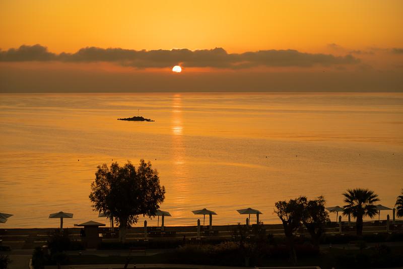 Ikos Dassia at sunrise, Corfu