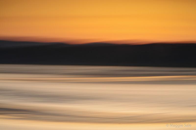 Kent Estuary at sunset, Cumbria, UK
