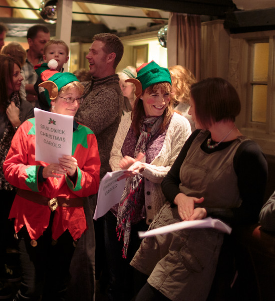 Christmas Carol Singing in Spaldwick (Dec 2013)