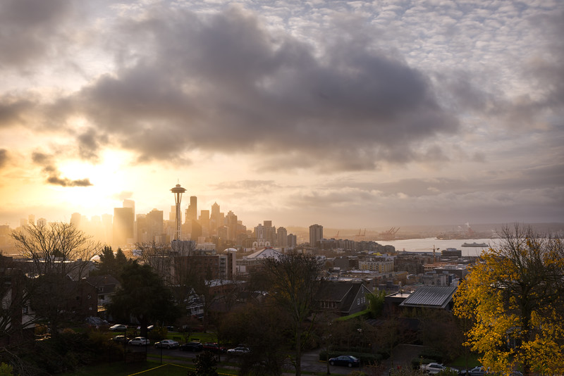 Kerry Park winter sunrise