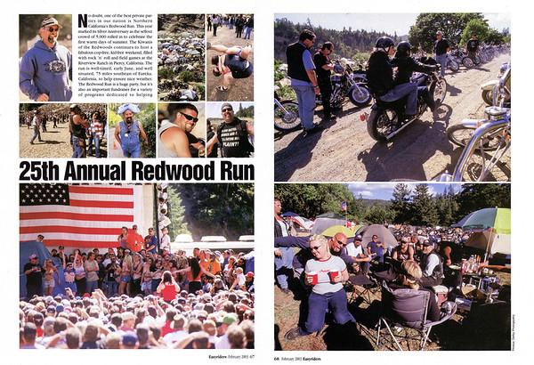 Redwood Run June 2002, Piercy, CA<br /> Easyriders magazine, Feb 2003