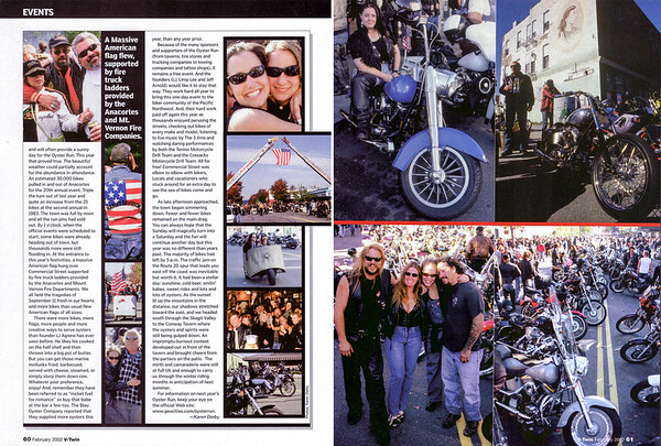 Oyster Run September 2001, Anacortes, WA<br /> V-Twin magazine, Feb 2002