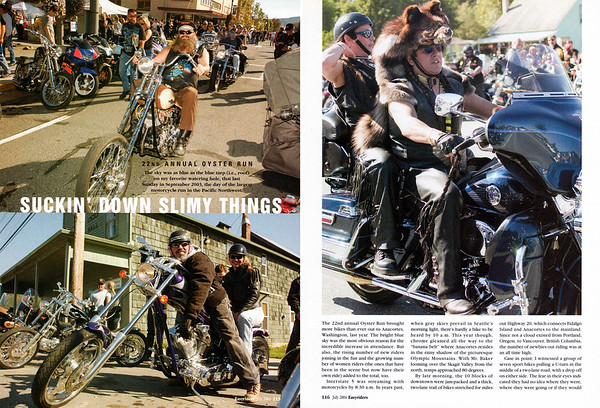 Oyster Run September 2003, Anacortes, WA<br /> Easyriders magazine, July 2004