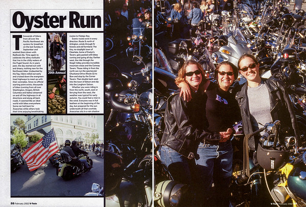 Oyster Run September 2001, Anacortes, WA<br /> V-Twin magazine, Feb 2002