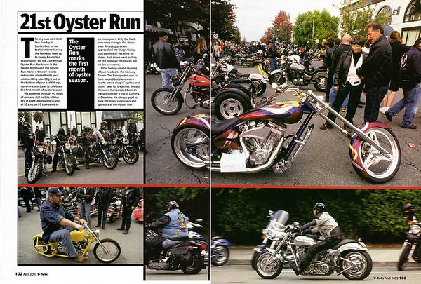 Oyster Run September 2002, Anacortes, WA<br /> V-Twin magazine, April 2003