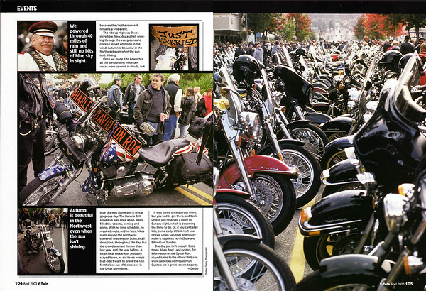 Oyster Run September 2002, Anacortes, WA<br /> V-Twin magazine, April 2003