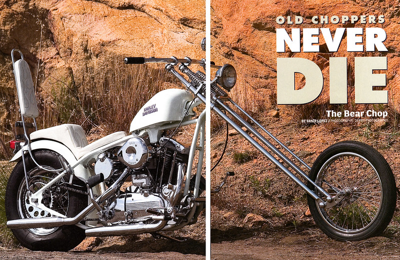 1965 Ironhead 1200 Sportster, customized Harley-Davidson.<br /> Street Chopper magazine