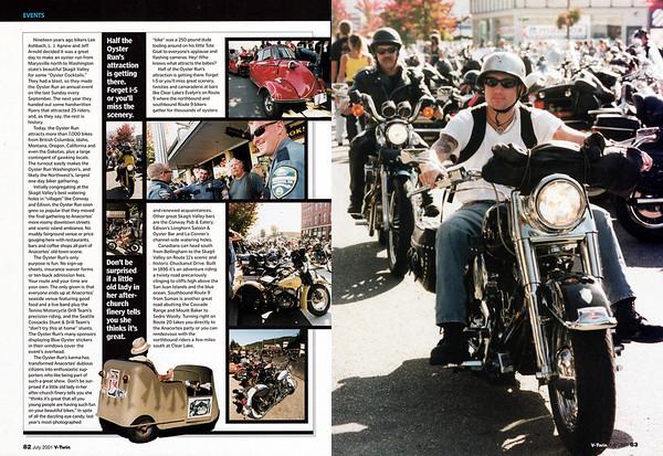 Oyster Run September 2000, Anacortes, WA<br /> V-Twin magazine, July 2001