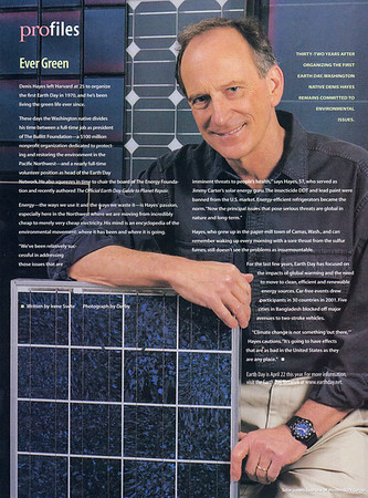Dennis Hayes, solar power advocate and first Earth Day coordinator<br /> Seattle Homes & Lifestyles