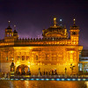 Golden Temple With Lightening in Night Sky, Amritsar