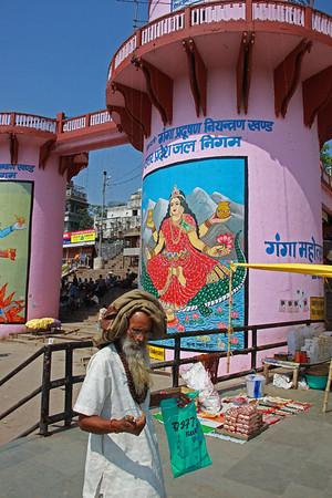 On the Ghat on the Ganges, Varanasi