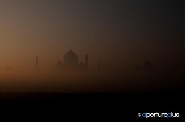 Misty Taj At Sunup