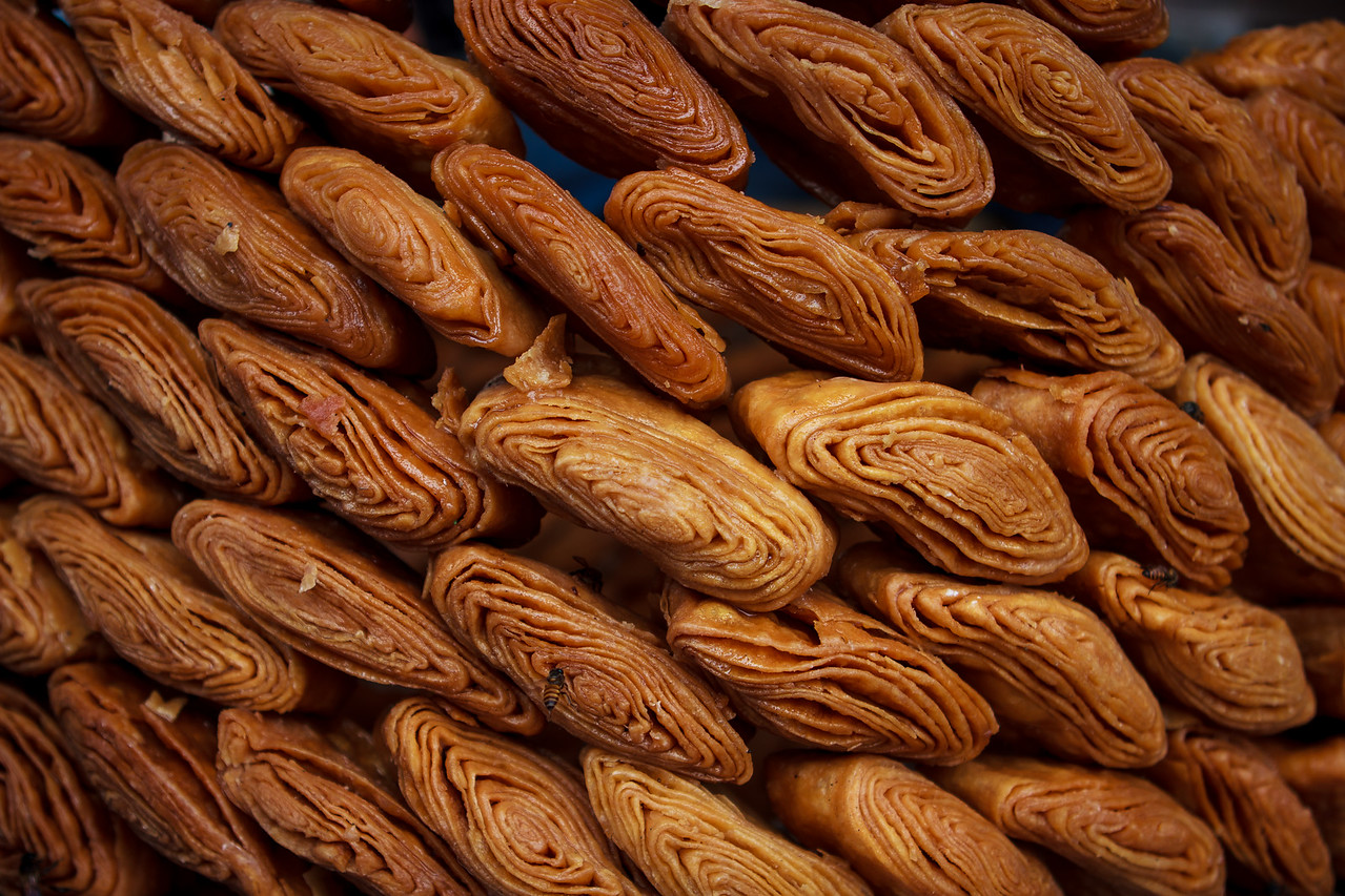 Gaja: a deliciously crisp and flaky, deep fried sweet pastry, one of the Chapana bhogs of Lord Jagannath