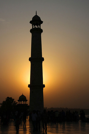 North-East Minaret at the Taj Mahal
