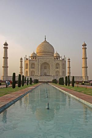 Taj Mahal in Agra from South Gate
