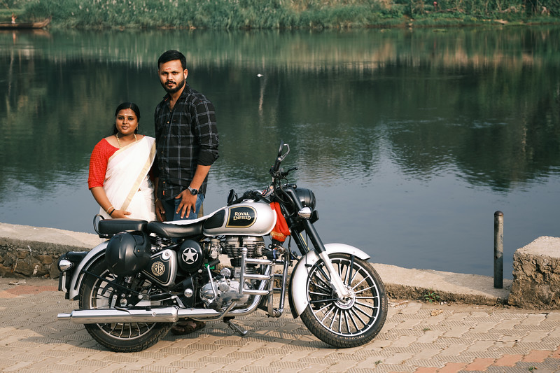 Couple With Royal Enfield