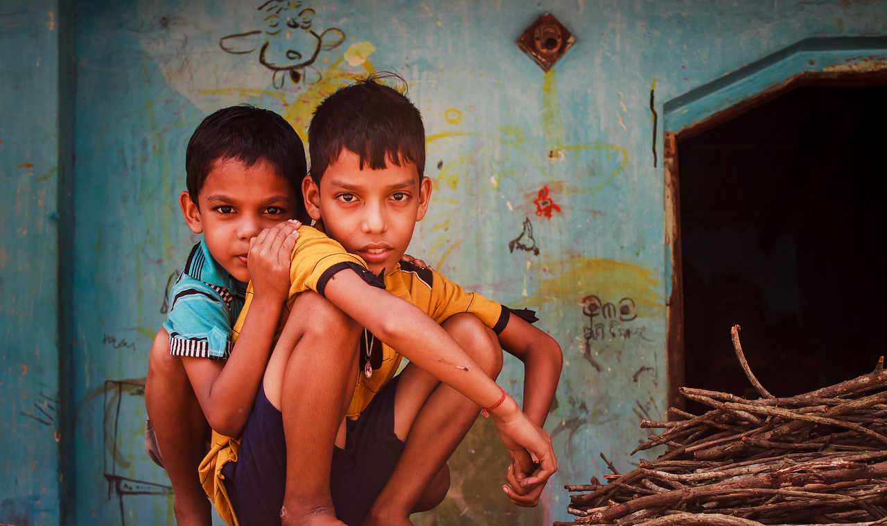 The Brothers: taken at the crafts village of Raghurajpur, famous for its Pattachitra paintings, on the way to Puri