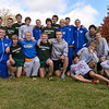 The three Hamilton County teams advancing to next week's State Finals celebrate their achievement.  Hamiltion Southeastern, Carmel and Westfield finished 1 2 3 at the IHSAA Boys Cross Country Carmel Semi-State at Northview Christian Church in Carmel, Indiana on Saturday, October 20, 2012.