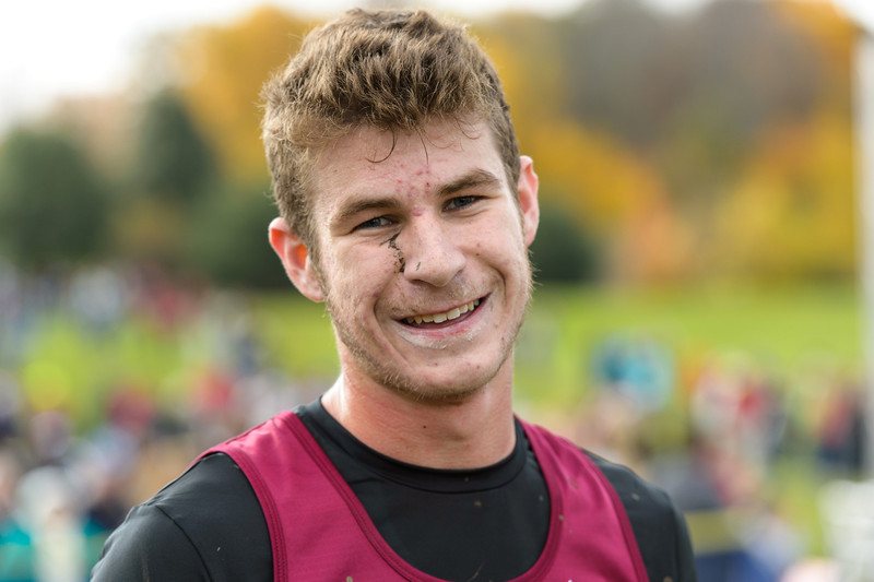 Matt Dorsey of Lawrence Central after the IHSAA Boys Cross Country Carmel Semi-State at Northview Christian Church in Carmel, Indiana on Saturday, October 20, 2012. Matt finished fourth and his team moves on to the State Finals.   Kirk Taylor/For the Star