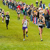 Capriella Fenicle of Westfield is their team's sixth place runner, breaking a tie with Center Grove and sending Westfield on to the State Finals at the IHSAA Girls Cross Country Carmel Semi-State at Northview Christian Church in Carmel, Indiana on Saturday, October 20, 2012.  Kirk Taylor/For the Star