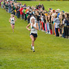 Emma MacAnally of Cathedral finishes 6th at the IHSAA Girls Cross Country Carmel Semi-State at Northview Christian Church in Carmel, Indiana on Saturday, October 20, 2012.  Kirk Taylor/For the Star