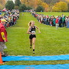 Kendra Foley of Noblesville takes second place at the IHSAA Girls Cross Country Carmel Semi-State at Northview Christian Church in Carmel, Indiana on Saturday, October 20, 2012.  Kendra finished in 18:14.2.  Kirk Taylor/For the Star