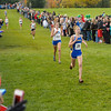 Kelsey Harris of Carmel finishes fourth at the IHSAA Girls Cross Country Carmel Semi-State at Northview Christian Church in Carmel, Indiana on Saturday, October 20, 2012.  Carmel won the Semi-State with 44 pionts.  Kirk Taylor/For the Star