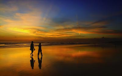 Amazing Sunset at Double Six Beach, Seminyak, Bali