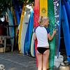 Surfer Girl, Choosing a Board,  Old Man's Beach, Canggu, Bali