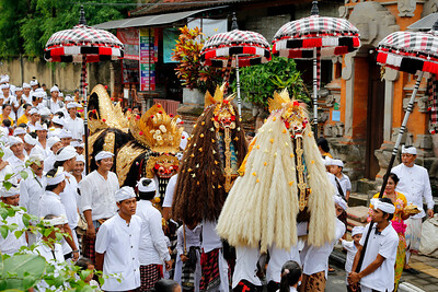 Traditional Balinese Hindu Procession, Ubud, Bali (3)
