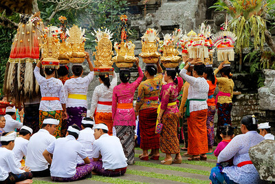 Traditional Balinese Hindu Procession, Ubud, Bali (2)