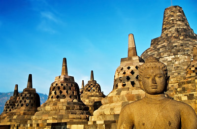 Borobudur Upper Terrace, Java, Indonesia (1)