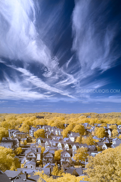 Boston Suburbs in Infrared on the North Shore