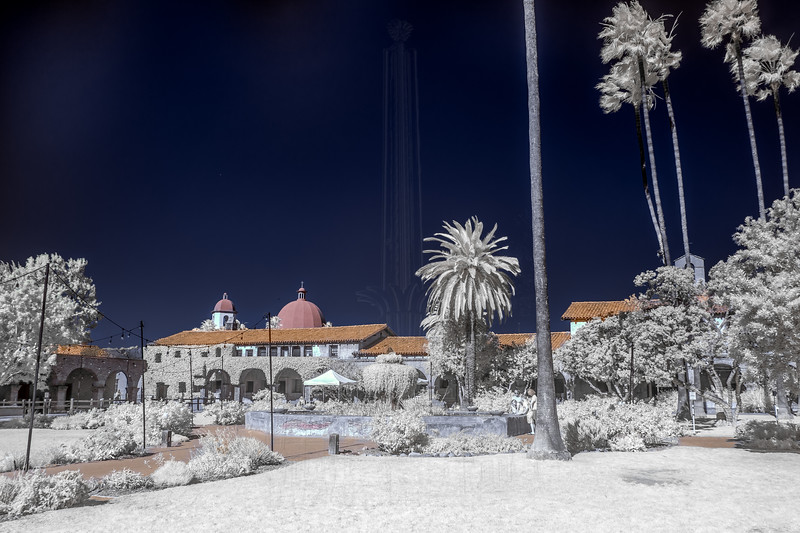Courtyard of Mission San Juan Capistrano(Infrared)