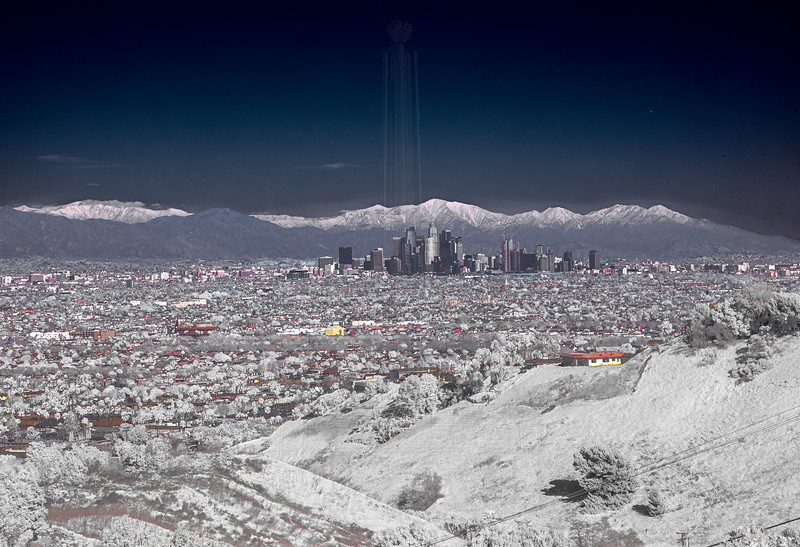 Downtown LA and the San Gabriels.