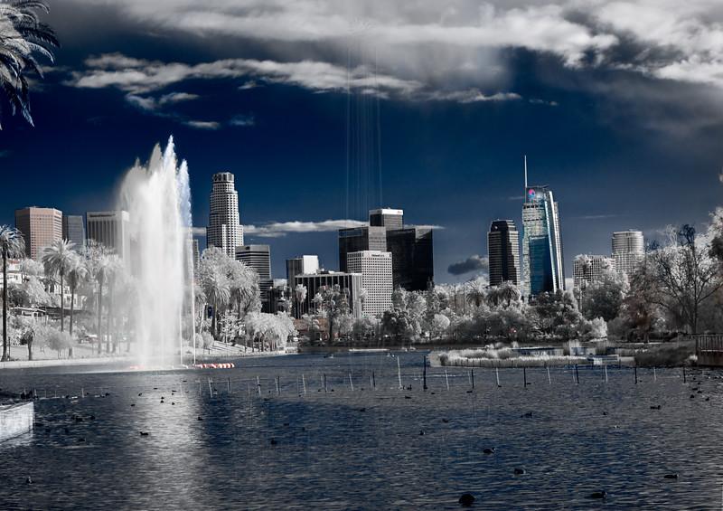Downtown LA from Echo Park(IR).