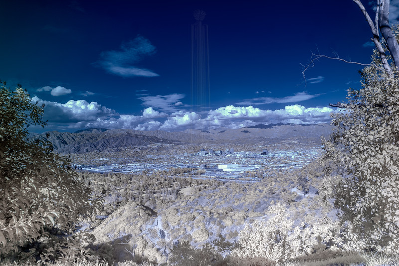 Glendale and the Verdugo mountains(IR).