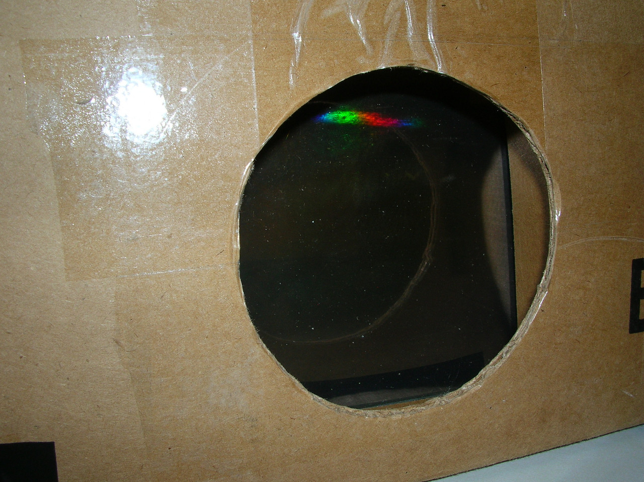 The Camera-end, with a view of the holographic grating inside.