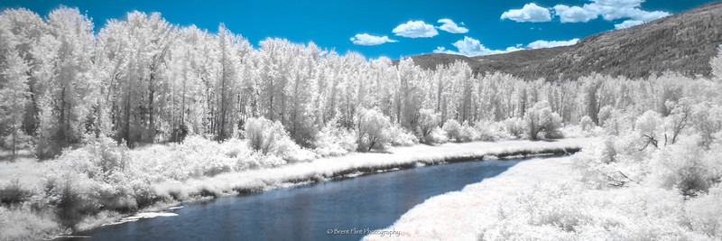 DF.4720 - Deep Creek in infrared, Kootenai National Wildlife Refuge, ID.
