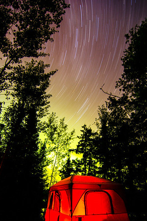 Stars, Northern Lights, Tent