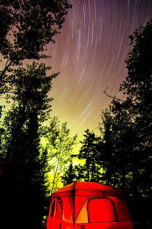Stars, Northern Lights, Tent