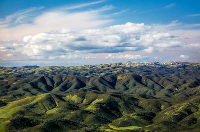 California; blue; color; mountains; nature; sky; snow; sunrise; trees; yosemite