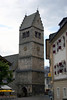 St. Hippolyte Parish Church - steeple and bell tower - in the town of Zell am See
