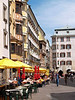 Down Herzog-Friedrich Straße (street) - with the Goldenes Dachl (Golden Roof) on the left - Innsbruck