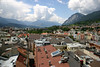 West view from the Staddturm (City Tower) - Innsbruck - to the Hechenberg Peak