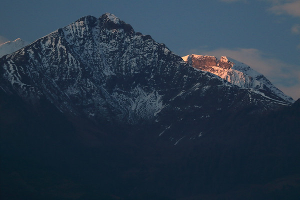Morning montain shadow upon the Imbachhorn - to the sunlit ridges of the Schneespitze beyond.
